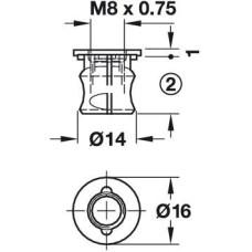 Корпус стяжки Stablofix оцинкованный 18 мм