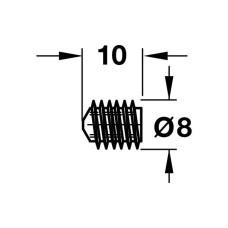 Винт крепежный сталь оцинкованная M 8 x 8.5 мм