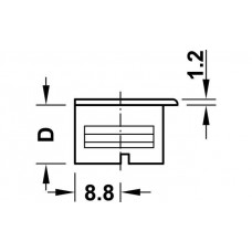 Корпус стяжки RAFIX SE без утолщения пластиковый бежевый D20 мм глубина сверления 14.2 мм