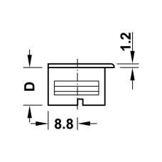 Заглушка для корпуса стяжки RAFIX пластиковая белая D24 мм толщина детали 19 мм
