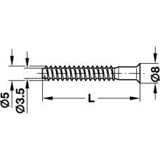 Конфирмат 5х50 мм крестовая PZ 2, сталь, оцинкованная