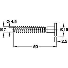 Конфирмат 7 х 50 мм SW4, сталь оцинкованная