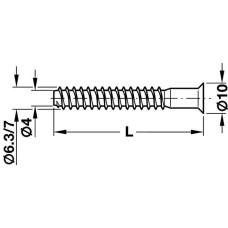 Конфирмат 6,3 х50 мм с крестовым шлицем оцинкованный