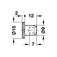 Втулочная гайка SW4 плоская стальная М6