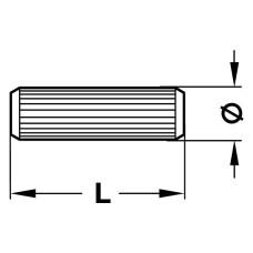 Дюбель-шкант 12 х 40 мм буковый FSC 100, FC-COC-804925