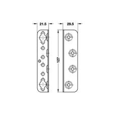 Фурнитура для кроватей сталь хромированная 127 мм