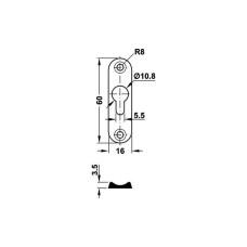 Соединитель каркаса кровати 16 х 60 х 3,5 мм
