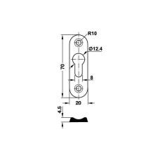 Соединитель каркаса кровати 20х70х4, 5 мм