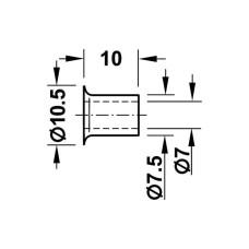 Кольцо для полкодержателя d 7.5 мм под запрессовки, никелированный