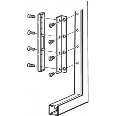 Крепления к фасадам с алюминиевыми рамами 20 мм толщина боковой стенки 19 мм хром мат
