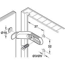 Cтяжка для задней стенки диаметром 10 мм длина 44 мм