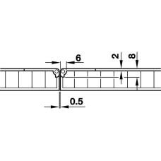 Фиксирующий шарнир складных столов 30 x 65 мм латунь, никелированная