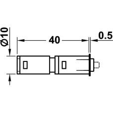 Защелка магнитная PUSH бежевая 40 мм D 10 мм для забивания