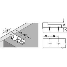 Адаптер для демпфера пластик серый прямой с устройством для позиционирования 37.010