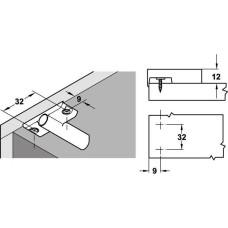 Адаптер для демпфера пластик серый крестообразный с устройством для позиционирования