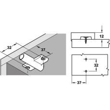 Адаптер для демпфера пластик серый крестовая для системы 32 без устройства для позиционирования