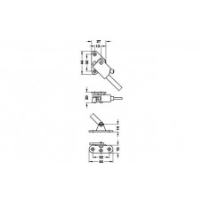 Раскладной стопор DORANA 190 мм правый, белый