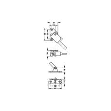 Раскладной стопор DORANA 190 мм левый, белый