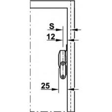 Единичная фурнитура DUO 3667 без креплений цамак никелированный