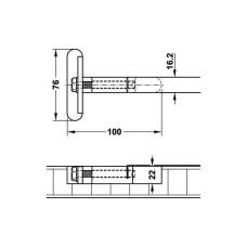 Комплект выравнивающей фурнитуры для столешницы, нержавеющая сталь