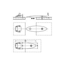 Соединительный элемент для столов 175x60 мм серебристый