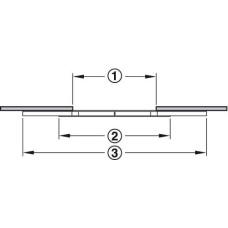 Направляющая для раздвижных столов 60 кг 850 мм асинхронный для 1 вставного полотна