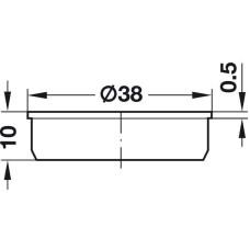 Заглушка отверстия 35 х 10 мм белая