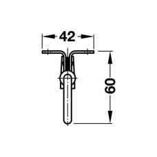 Выдвижная гардеробная штанга-вешалка, никелированная, 310 мм