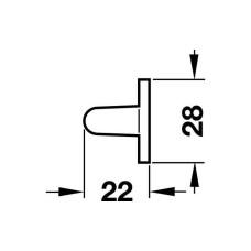 Держатель для галстуков 425 мм никелированный