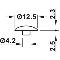 Заглушка под конфирмат пластмассовая коричневая D 5 мм