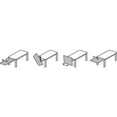 Направляющая для раздвижного стола 500 мм сталь