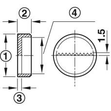 Врезной подвес 30 x 11,5 мм белый пластик