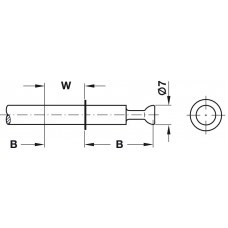 Болт двойной Minifix 15 оцинкованный глубина сверления 24 мм