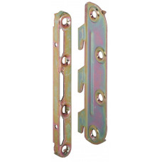 Соединитель угловой для кроватей 130 мм сталь, хромированная ( 4шт планки + № 1-2 шт + № 2-2 шт )