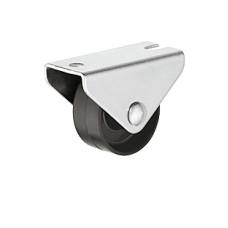 Мебельный ролик 25 мм 20 кг, Н 28 мм не поворотный ролик пластик