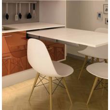 Комплект фурнитуры для выдвижного стола 1200 x 550 мм цвет серебряный
