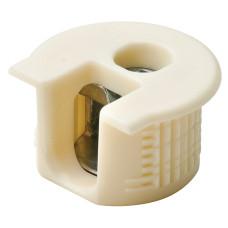 Корпус стяжки RAFIX SE без утолщения пластиковый бежевый D20 мм глубина сверления 12.7 мм