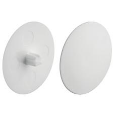 Заглушка для корпуса стяжки MAXIFIX E пластиковая белая D 39 мм