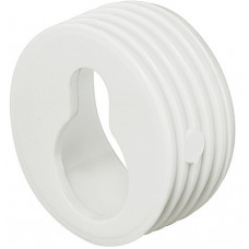 Врезной подвес 20 х 10 мм из пластмассы белого цвета