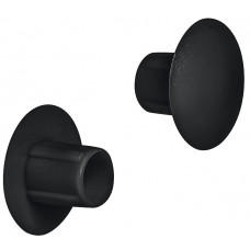 Заглушка пластиковая 10x5 мм RAL9005 черная