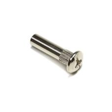 Втулка стальная никелированная М6 длина 30 мм из никелированной стали