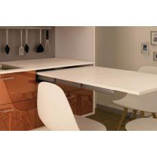 Комплект фурнитуры для выдвижного стола 600 x 550 мм цвет серебряный