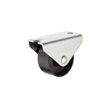 Мебельный ролик 30 мм 25 кг, Н 33 мм не поворотный ролик пластик