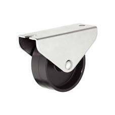 Мебельный ролик 45 мм 50 кг, Н48,5 мм не поворотный для твердой поверхности
