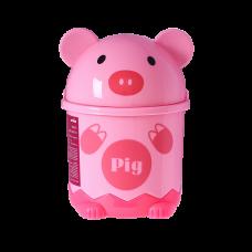 Мусорное ведро детское с крышкой свинка BIN-07 1,2L PINK