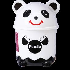 Мусорное ведро детское с крышкой панда BIN-07 7L WHITE
