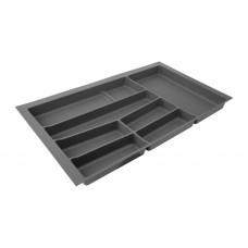 Лоток для столовых приборов 32/76 Volpato 840х490 графит