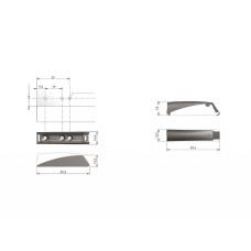 Крепление толкателя Italiana Ferramenta K-PUSH TECH 14 и 20 мм серый
