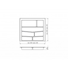 Лоток для столовых приборов 32/76 Volpato 540х490 белый