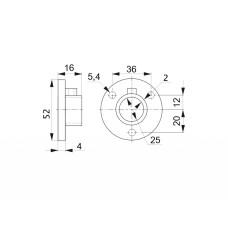 R-11/M Крепление трубы d=25 (алюминий) GIFF фланец хром